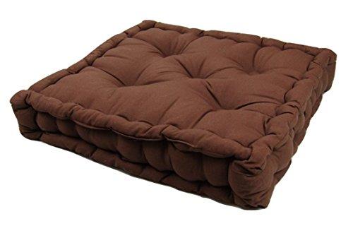 Papa Jones Ltd Coussin rehausseur épais galette pour chaises adultes/fauteuil/chaise de jardin 100% recouvert coton (chocolat)