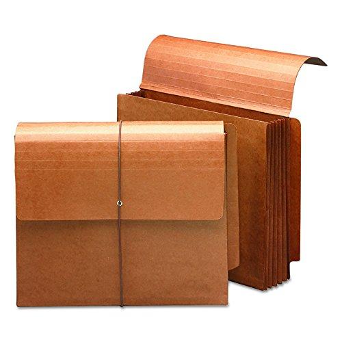 SMEAD Ende Tab Wallet, 5-1/10,2cm Erweiterung, Lasche und Kordel Verschluss, Brief Größe, Redrope, 10Stück pro Box (71144) - Brief Ordner-verschluss Größe