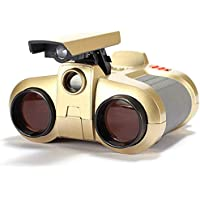 sisaki Prismáticos para niños, telescopio de prismáticos 4X30 de visión Nocturna para niños 1pcs con iluminación, prismáticos de visión Nocturna para niños de más de 3 años (A-Rojo)