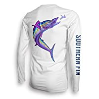 Long Sleeve Fishing T-Shirt for Men and Women, UPF 50 Dri-Fit Performance Clothing - Southern Fin Apparel (Wahoo, Large)