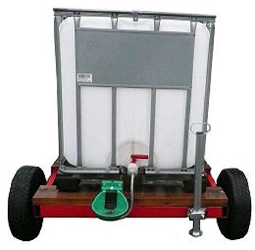 mobile Weidetränke fahrbare Tränke 800 Liter # IBC Tank auf Kunststoffpalette auf Anhänger