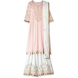 BIBA Women's Straight Salwar Suit (SKD4955_pink_38)