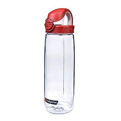 Nalgene Trinkflasche Everyday OTF, 0.7 Liter, Transparent/Rot