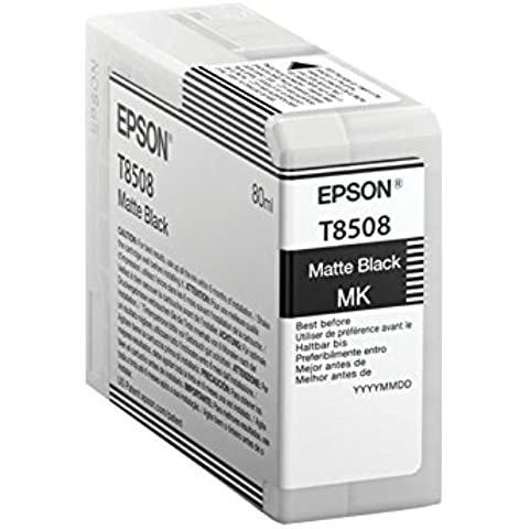 Epson T850800 - Cartucho de tinta, color negro mate