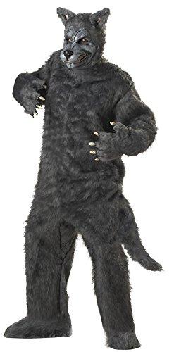 Plus Größe Kostüm grau 48Größe (Der Big Bad Wolf Kostüm)