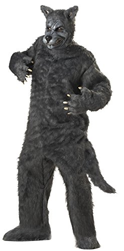 Big Bad Wolf Plus Größe Kostüm grau (Wolf Big Bad Kostüme)