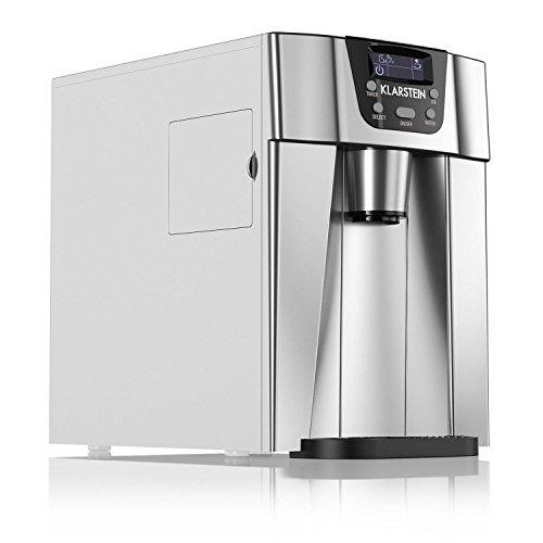 Klarstein Ice Volcano 2GS • Eiswürfelmaschine • Eismaschine • Eiswürfelbereiter • LCD-Display • 12 kg / 24 h • 2 Würfelgrößen • Bullet-Form • Beleuchtung • Zubereitung in 6-12 min • Timer • silber