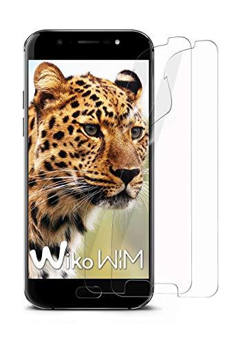 moex 2X Wiko WIM | Schutzfolie Klar Bildschirm Schutz [Crystal-Clear] Screen Protector Display Handy-Folie Dünn Bildschirmschutz-Folie für Wiko WIM Bildschirmfolie
