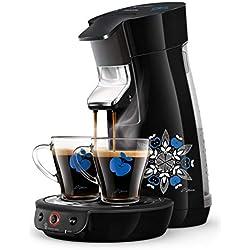 Philips HD6569/62 Machine à Café à Dosettes SENSEO Viva Café Noire by Sasu + 2 Tasses Incluses