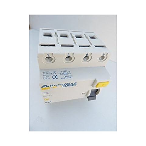 Interrupteur 4 Poles - Interrupteur differentiel 63A 4P 300mA type AC