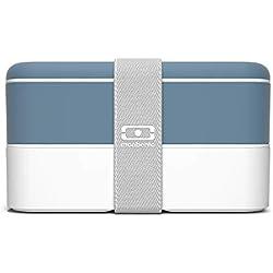 monbento Original Bento Box in plastica, Denim, 18,5 x 9,4 x 10 cm