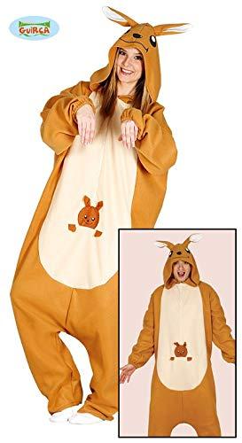 Känguru Pyjama Kostüm für Erwachsene Overall Tierkostüm Australien -