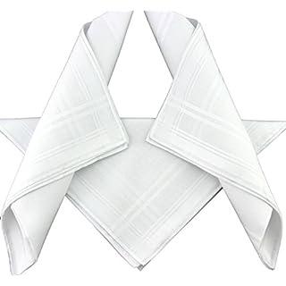 Alexander Hay Herren Taschentuch Weiß weiß, Weiß