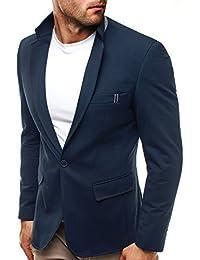 OZONEE Herren Sakko Business Anzug Kurzmantel Klassische Anzugjacke Jacket Blazer OZN 5510