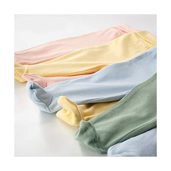 EBILUN Niños Algodón Cintura Alta Pantalones de pie, Leggings Casuales Medias elásticas Pantalones Pantimedias… 4