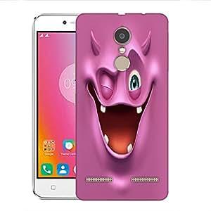 Snoogg purple devil ghost 2685 Designer Protective Back Case Cover For Lenovo K6 Power