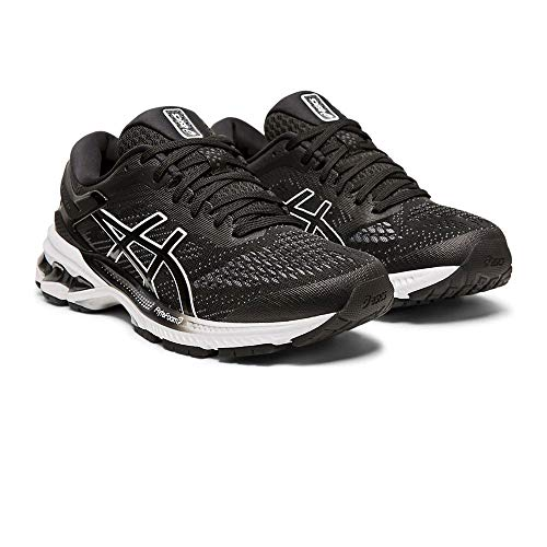 ASICS Damen Gel-Kayano 26 Laufschuhe, Schwarz (Black/White 001), 40 EU - Winter Shoes Running Asics