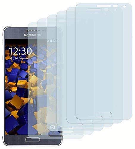 6 x mumbi Schutzfolie Samsung Galaxy Alpha Folie Bildschirmschutzfolie
