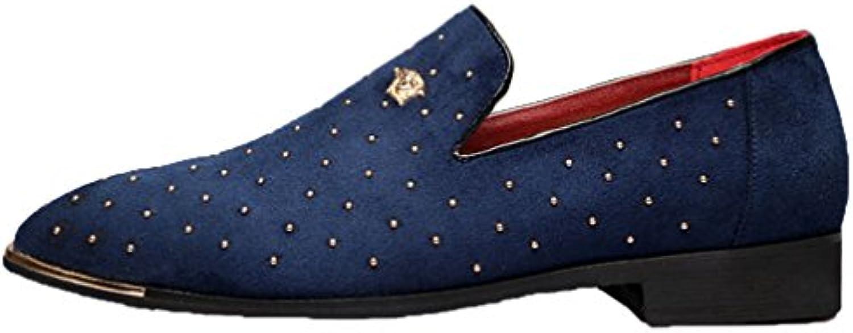vecjunia   en fashion Or en  à bout fermé enfiler des chaussures en daim, oxford 852a0b