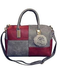 5be89713d7d57 Retro Damen Leder Handtasche Hobo Tote Schulter Handtasche Bucket Bag