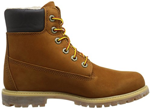 Timberland Damen 6in Premium Fleece L Orange Trekking-& Wanderstiefel Rust Nubuck