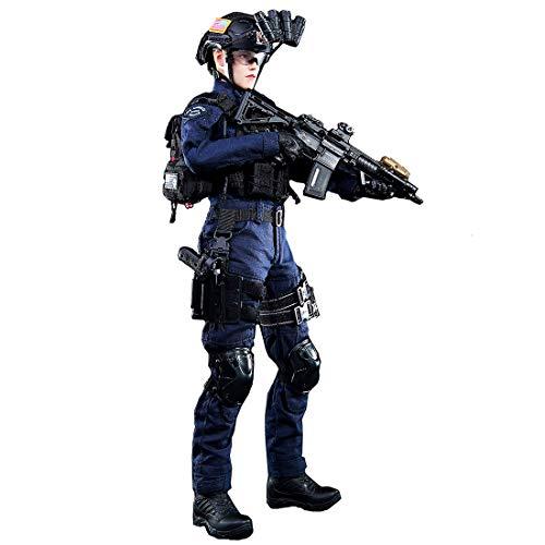 LVPY Action Figuren Modell, 1/6 12 Zoll SWAT Frauen Soldat Modell Actionfigur Modell Spielzeug Geschenk Für Kinder und Erwachsene