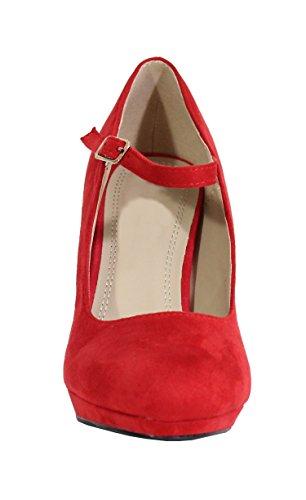 By Shoes , Damen Pumps Rot