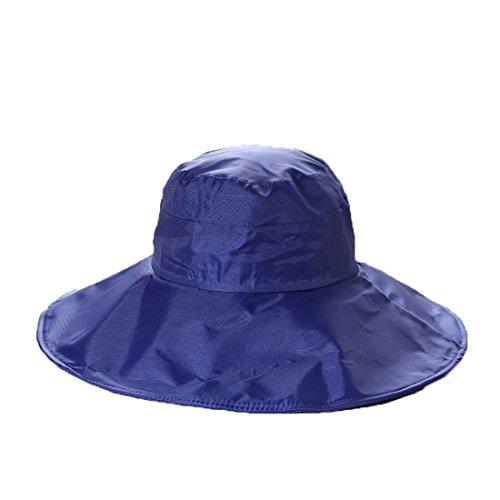 BeFur wasserdicht Raincap Eimer Hüte Regenmütze Regenhut Regenkappe Sonnenhut Fischerei Jagd Kappen - blau