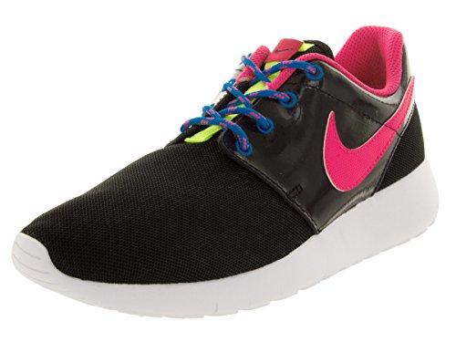 Nike Roshe Run, Chaussures de running fille Noir Rose