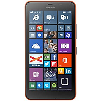Microsoft Lumia 640 XL Smartphone, 8 GB, Arancione [Italia]