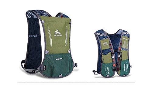 Imagen de aonijie ligero al aire libre agua hidratación  senderismo ciclismo bolsa de deporte con botella soporte para bolsa de agua 1.5l, verde alternativa