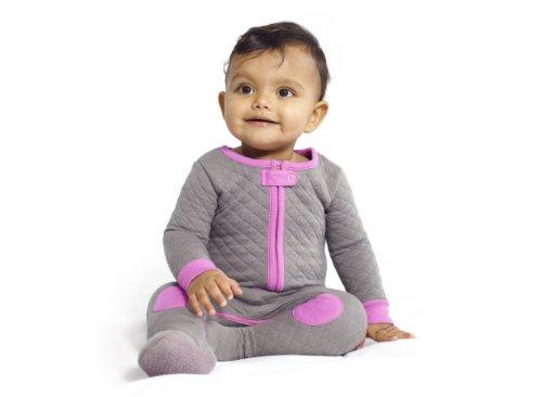 Baby Deedee Baby sleepsie Footie Schlafanzüge, Schiefer/Hot Pink, 6–12Monate (Pjs Pyjamas Footed)