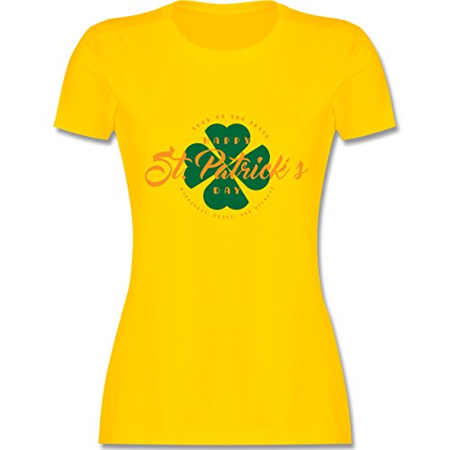 St. Patricks Day - St. Patricks Day Luck of The Irish - Damen T-Shirt Rundhals Gelb