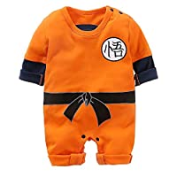 Dragon Ball Z Cosplay Long Sleeve Boys and Girls Goku Romper Costume Jumpsuit Baby Clothes