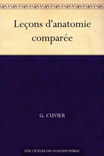Couverture du livre Leçons d'anatomie comparée