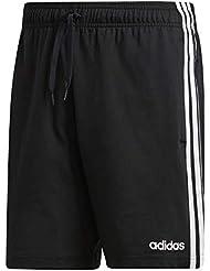 adidas Essentials 3 Stripes Short Single Jersey, Pantaloncini Uomo, Nero/Bianco, M