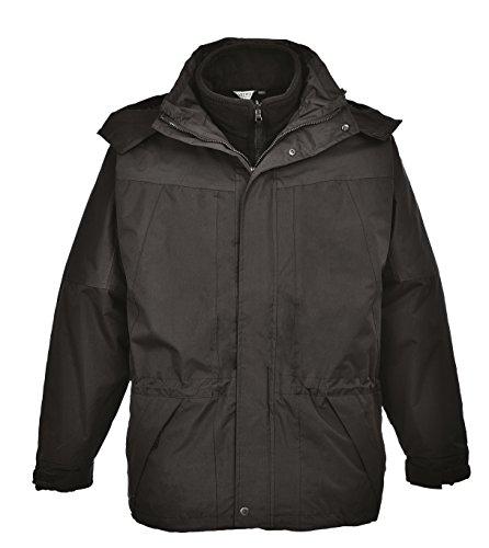 Portwest Workwear Aviemore 3 in 1 Mens Jacket - S570 - EU / UK Schwarz