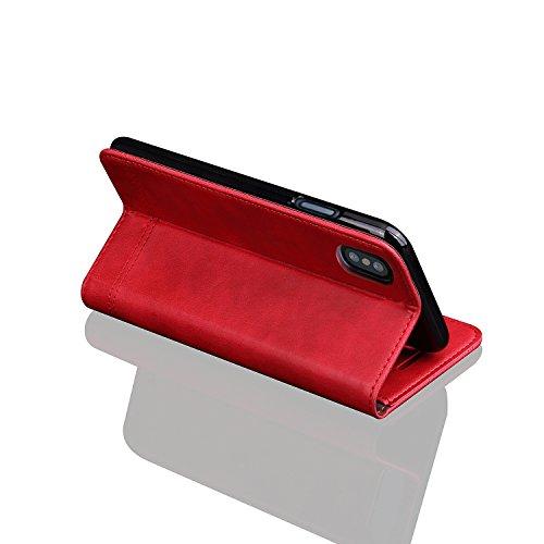 iPhone 8custodia case, custodia in pelle Folio libro custodia cover a portafoglio in pelle con cavalletto funzione della carta & ID supporto e chiusura magnetica per iPhone6/6s/7/7s