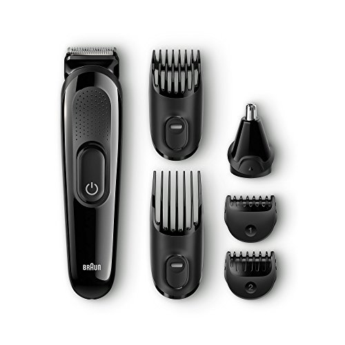 410qkkBwnrL - BEST BUY #1 Braun MGK3020 Multi Grooming Kit - 6-in-one beard and hair trimming kit - with nose trimmer attachment - Ships with a UK 2 pin plug Reviews and price compare uk