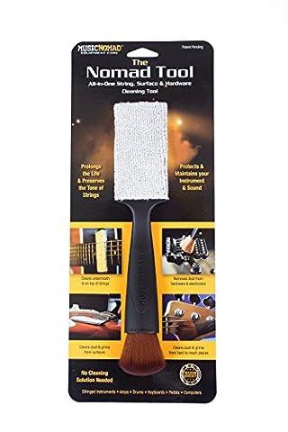 MusicNomad The Nomad Tool Reinigungswerkzeug für Saiten, Oberflächen und