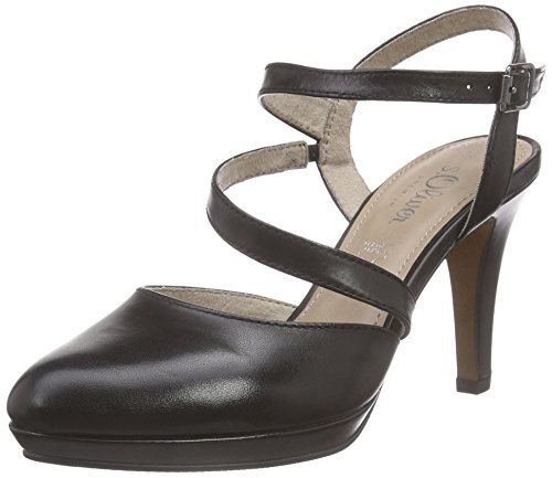 s.Oliver 29601, Damen Slingback Pumps, Schwarz (BLACK 001), 39 EU (6 Damen UK)