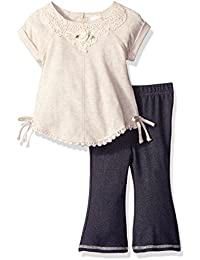 Youngland Baby Girls Tunic and Denim Bell Bottom Set
