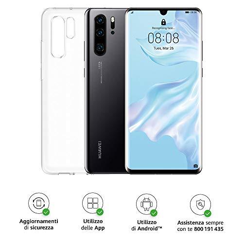 Huawei P30 Pro (Black) Smartphone + Cover Trasparente, 8GB RAM, Memoria 128GB, Display 6.47' FHD+, Processore Kirin 980, Quadrupla Fotocamera 40+20+8MP, Sensore TOF, SuperZoom 50x, [Italia]