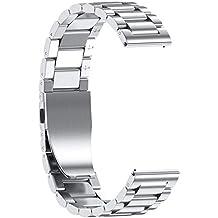 MINXINWY_Correas de Deportivo Samsung Galaxy Watch Correas de Acero Pulsera Correa de Repuesto de