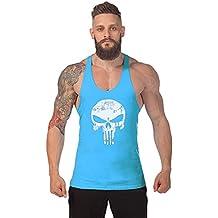 Robo Homme Débardeur de Sport T-Shirt Gilet sans Manche Maillot Tank Top  Stretch Fitness abf775073b9