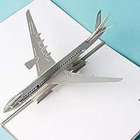 Tarjeta de cumpleaños emergente 3D de BC Worldwide Ltd, avión plateado, Navidad, San Valentín, día del padre, graduación, tarjeta de aniversario de boda