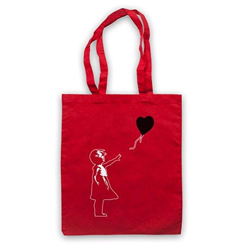 Inspiriert durch Banksy Girl Heart Balloon Graffiti Street Art Inoffiziell Umhangetaschen Rot