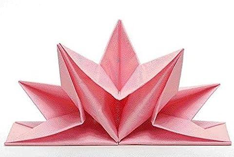 Servietten Venezia, elegant, festlich, Farbe: rosa, vorgefaltet, Inhalt pro Packung: 12 Stück, Sternform, Tischdekoration, Tischdeko, Geburtstag, Hochzeit, Weihnachten, Ostern, Taufe, Jubiläum, Party, Verlobung,