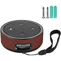 Echo DOT Wall Mount, custodia rigida protettiva porta guardia supporto per Amazon Echo DOT 2nd generation, Brown