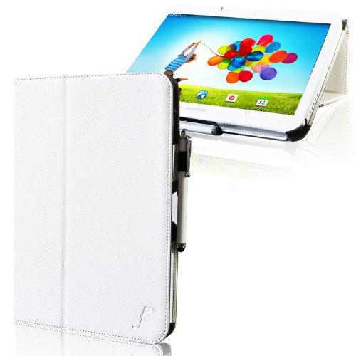 ForeFront Cases® - Kunstleder-Case mit Ständer Hülle für Samsung Galaxy Tab 3 8.0 8GB 3G + WiFi - mit magnetischer Auto-Sleep-Wake-Funktion - WEIß